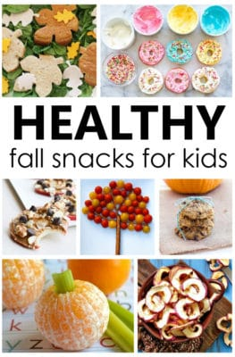 Healthy Fall Snacks that are easy to make for kids