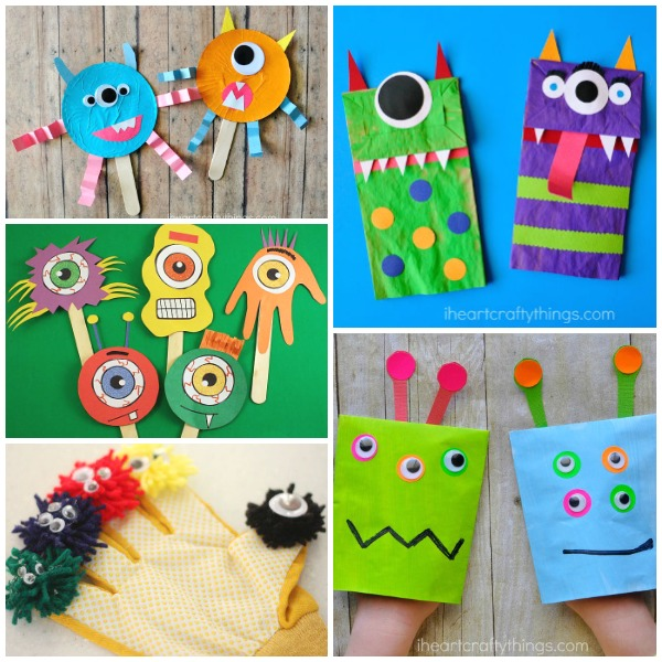 graphic about Build a Monster Printable known as Monstrous Listing of Monster Crafts for Young children - Good Pleasurable