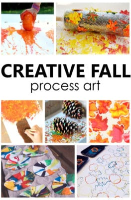 Creative Fall Process Art Ideas for Kids. Sensory art and process art for preschool and kindergarten