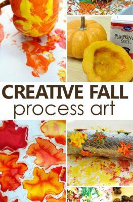 Fall Process Art for Kids