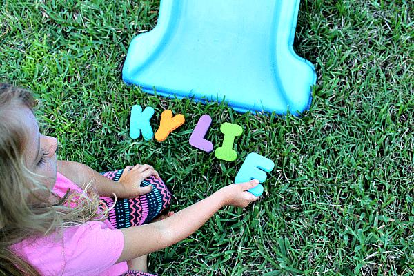 Preschool Name Activity for Outdoor Play
