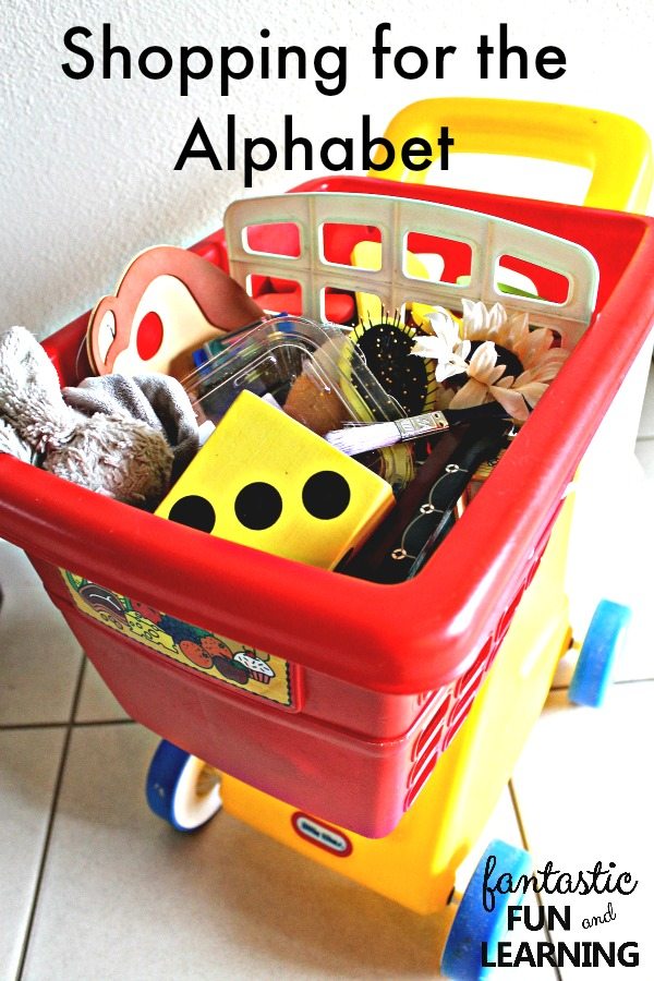Shopping for the Alphabet Preschool Beginning Sounds Activity