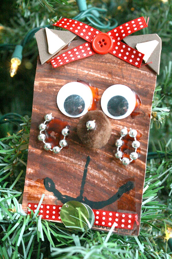 Christmas Reindeer Craft with Printable Math and Shape Activities