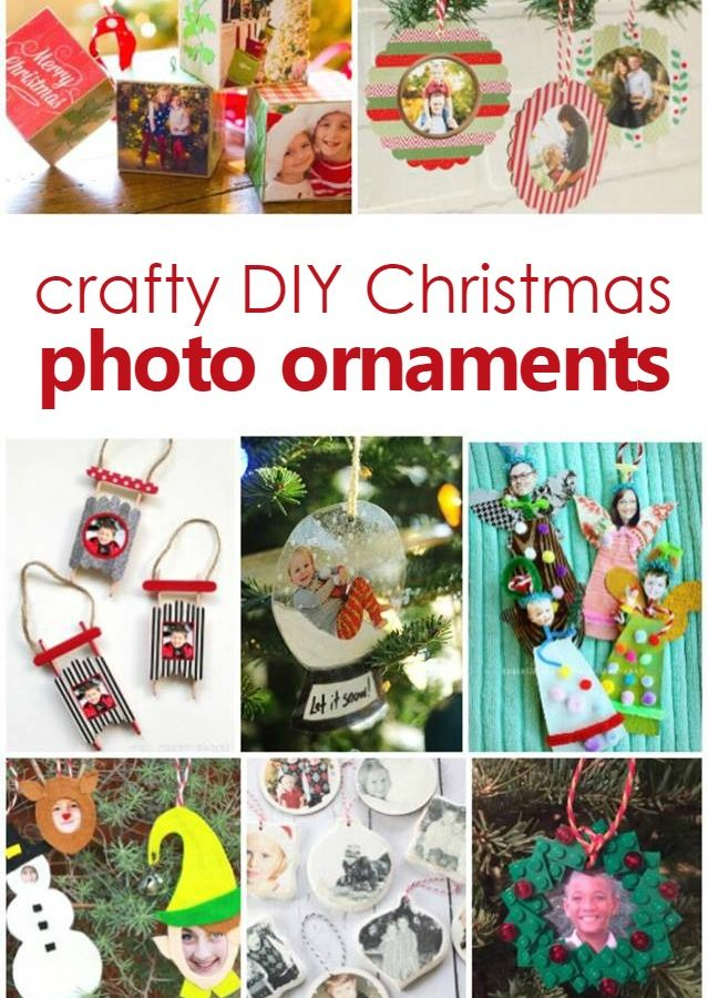 Crafty DIY Christmas Photo Ornament Crafts Kids Can Make