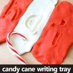 Candy Cane Play Dough Writing Tray