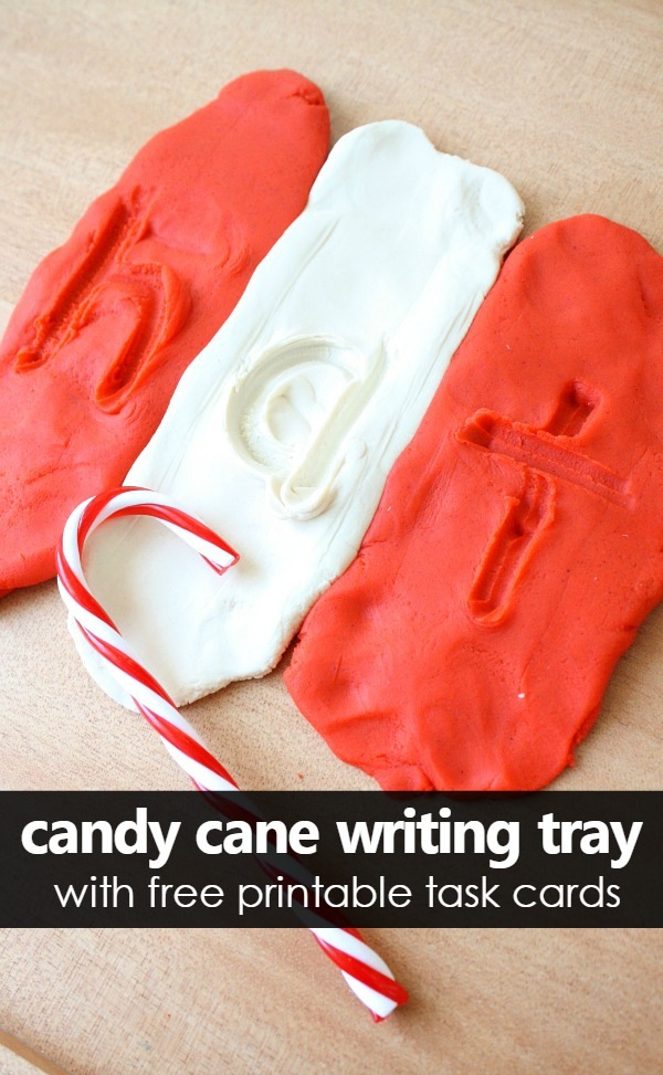 Candy Cane Play Dough Writing Tray - Fantastic Fun & Learning