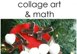 Shape Reindeer Collage Art and Math