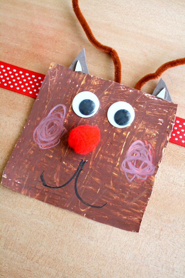 Shape Reindeer Preschool Art