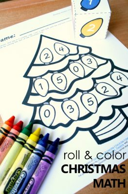 Free Printable Christmas Tree Number Matching Math Activity