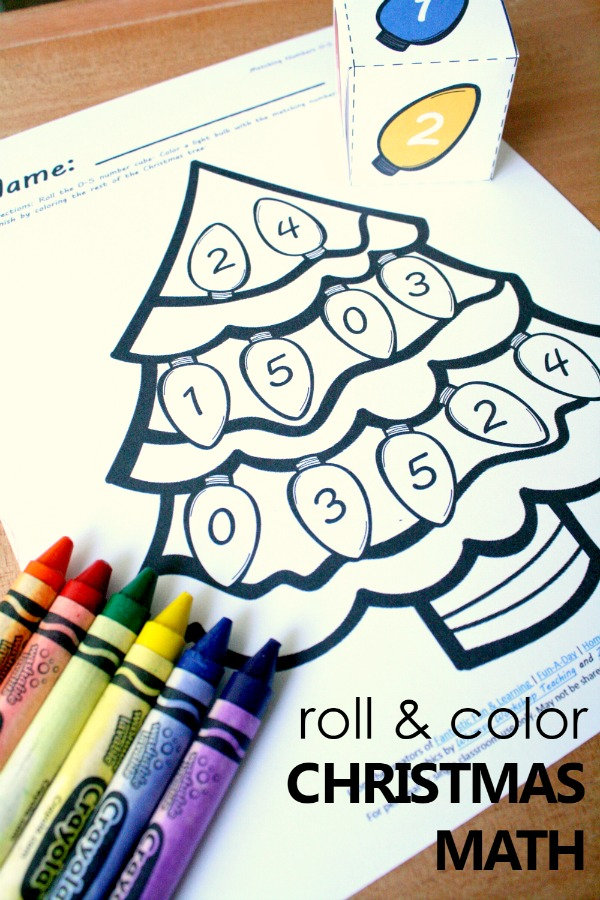 Free Printable Christmas Tree Number Matching Math Activity ...