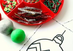 Free Printable Christmas Ornament Play Dough Mats