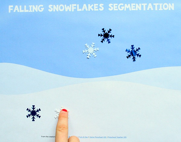 Segmenting Free Printable for Winter Reading in Preschool and K