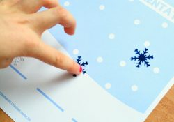 Snowflake Segmentation Printable Mat