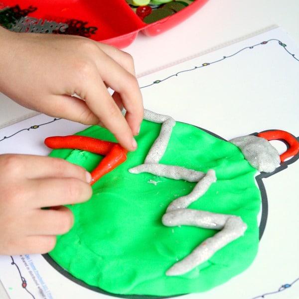 Christmas Play Dough Activity for Kids