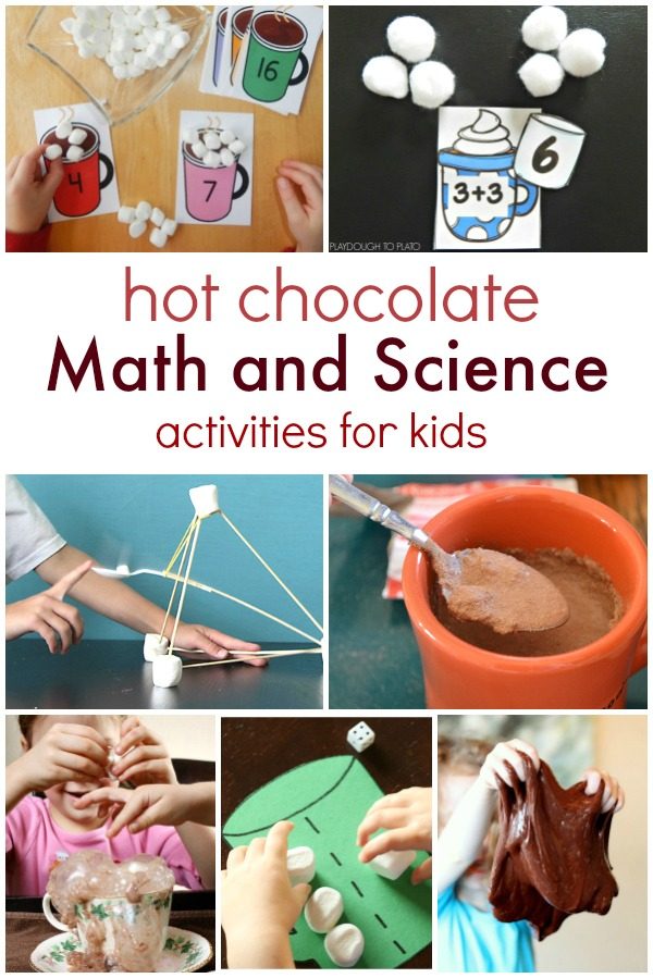 Hot Chocolate Math and Science Activities for Kids- Hands-on winter learning with a favorite treat!