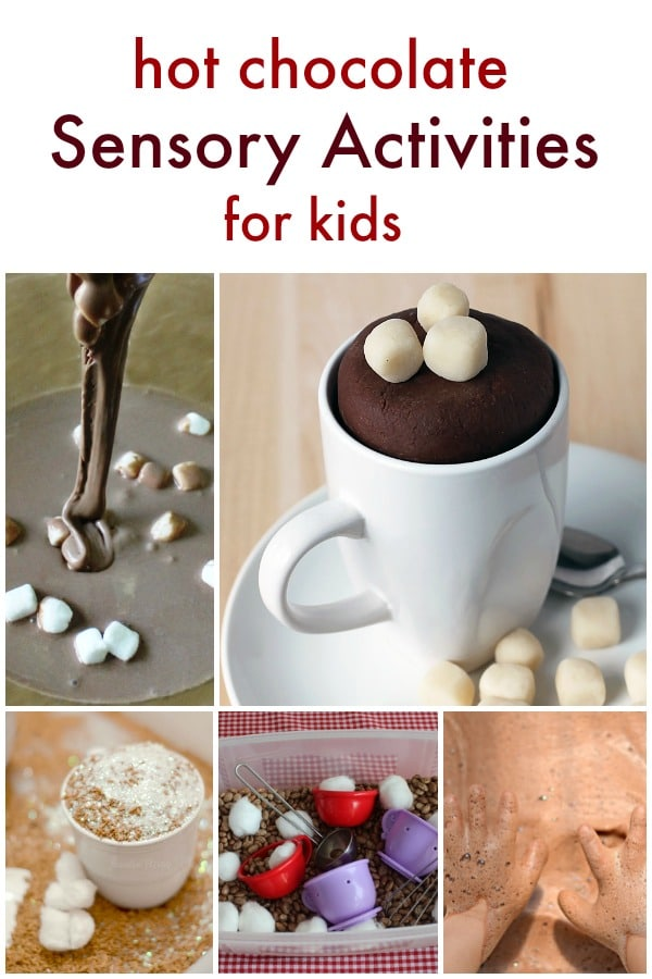Hot Chocolate Sensory Activities-Play Dough, Sensory Bins, Slime and more to go along with your hot chocolate theme