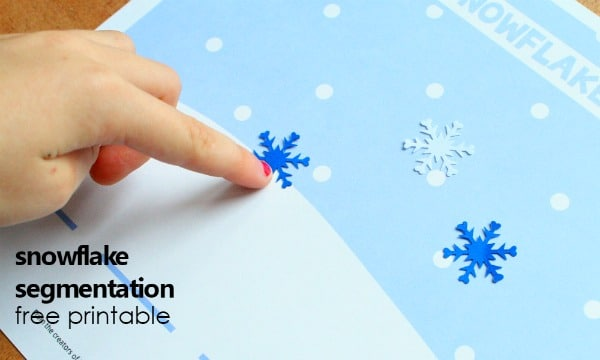 snowflake segmentation printable