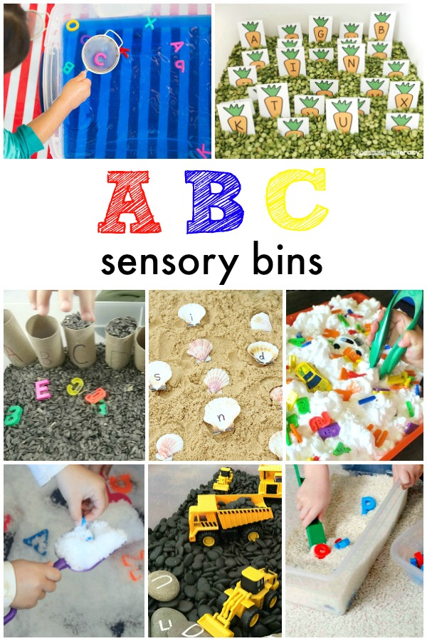 ABC sensory bins-hands on sensory play for toddlers and preschoolers learning the alphabet