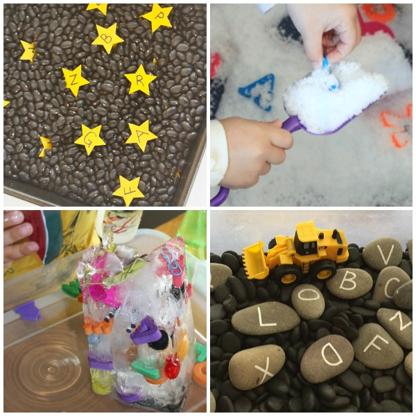 Alphabet Activities for Preschoolers-Sensory Play