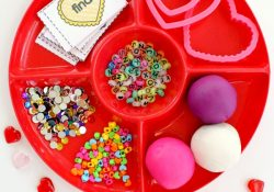 Candy Heart Play Dough Sight Word Play