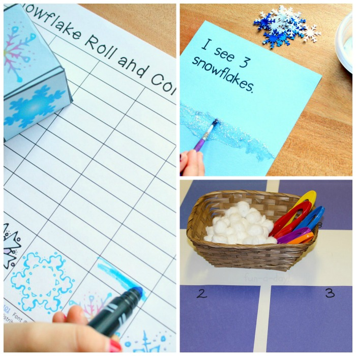 Snowflake Math Preschool Activities