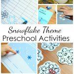 Preschool Snowflake Activities