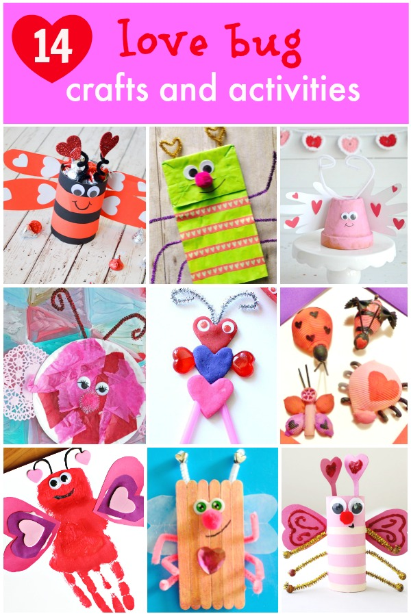14 Adorable Love Bug Crafts and Activities for Kids. Perfect for Valentine's Day or Anytime!