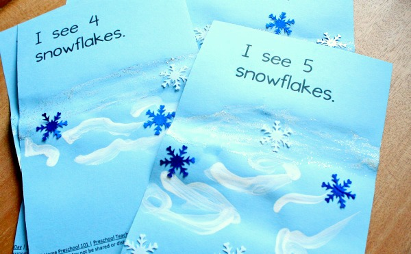 Winter snowflake activity for preschool