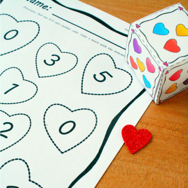 Preschool and Kindergarten Valentine's Day Math Activity