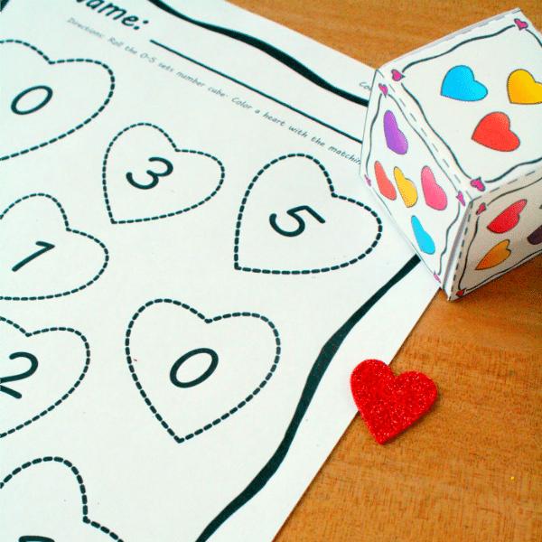 Preschool and Kindergarten Valentine's Day Math Activity