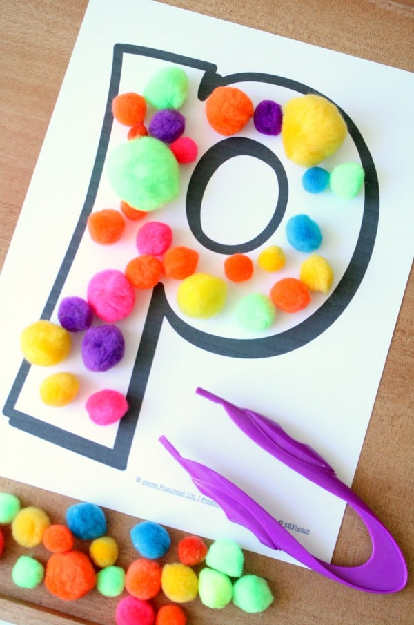 ABCs and Pom Poms