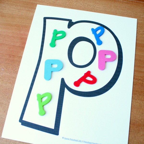 ABCs with Foam Letters
