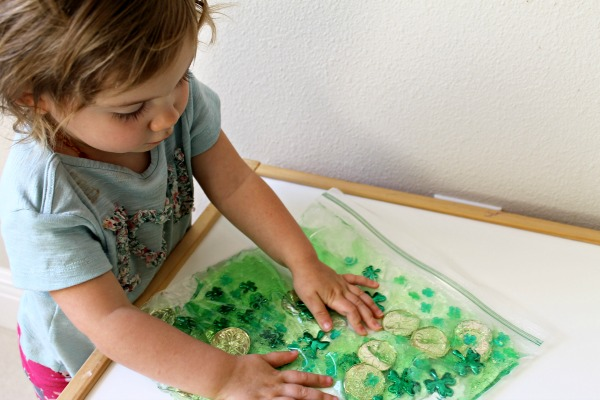Toddler St. Patrick's Day Sensory Play