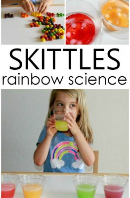 Skittles Rainbow Science Investigation