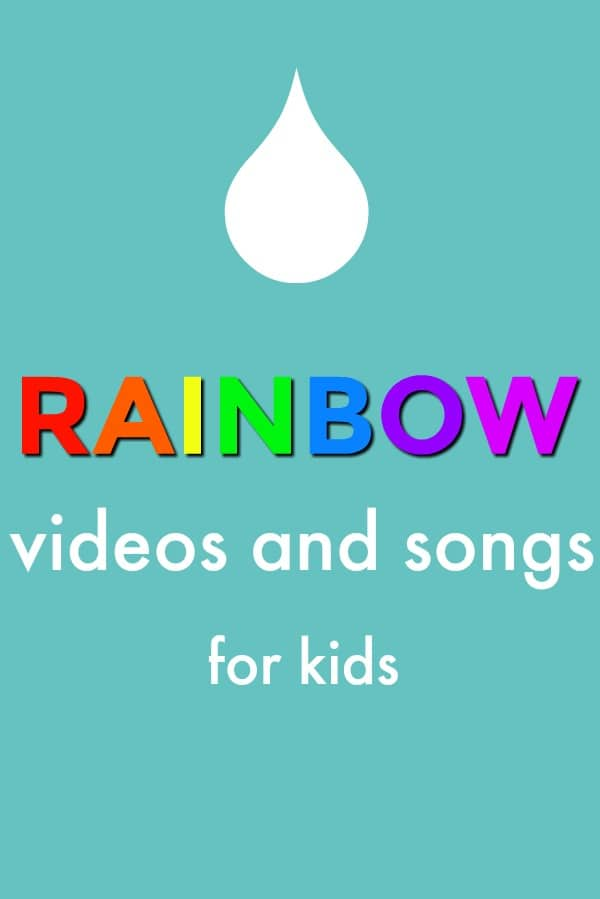 Rainbow Videos and Songs for Kids-great preschool learning and fun for spring or a rainbow theme