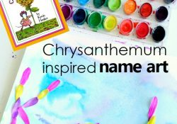 Chrysanthemum Preschool Name Art
