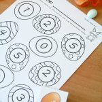 Roll and Color Easter Math Game