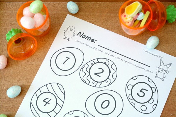 Free Printable Easter Egg Math