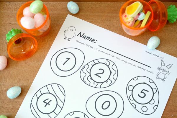 Free Printable Easter Egg Math