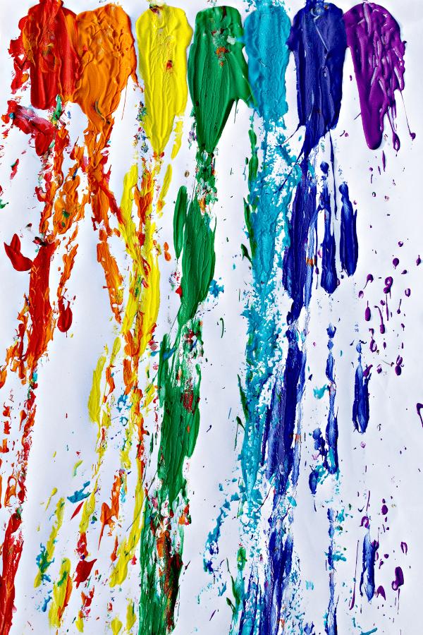 Rainbow art for kids