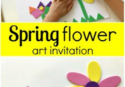 Spring Flower Art Invitation