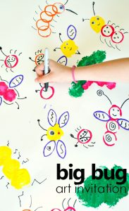 big bug collaborative art invitation. spring art activity for kids