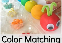 Rainbow Play Dough Color Matching Caterpillar