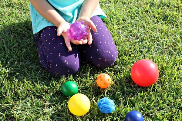 examining balls