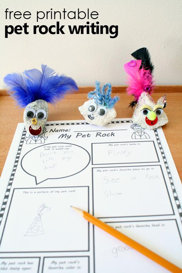 Free Printable Pet Rock Writing Fantastic Fun Learning