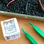 Counting Worms Preschool Math Sensory Bin