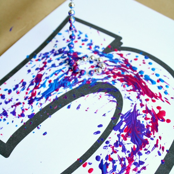 necklace painting process art letter n craft for preschool