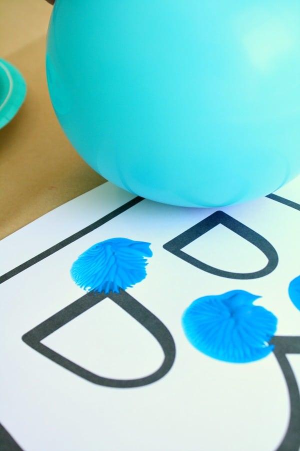 Process Art Letter B Craft for Preschool Alphabet Activities