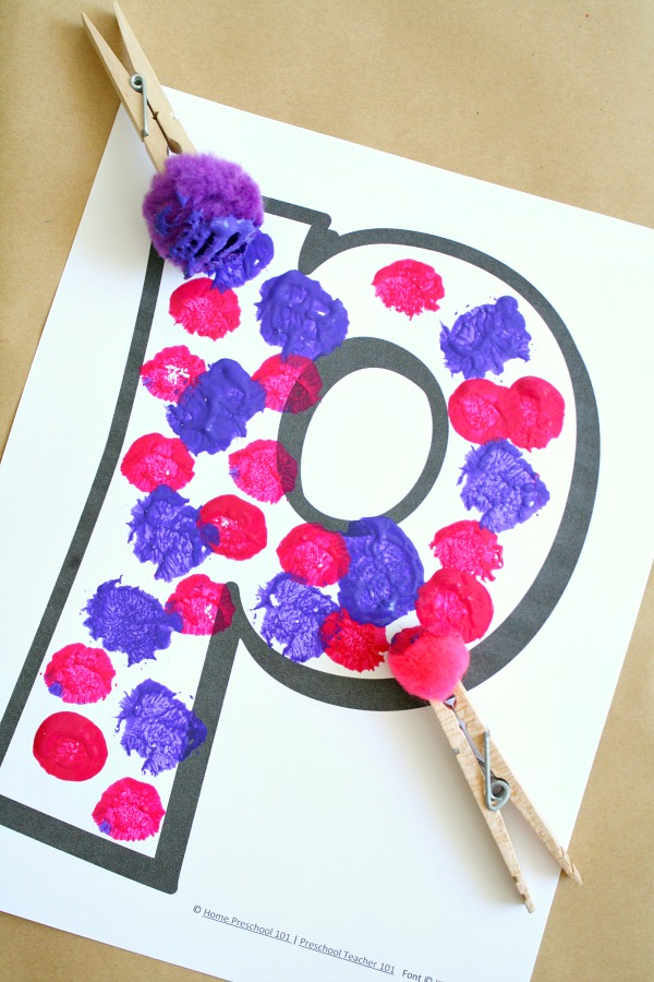 Arts And Crafts With The Letter P