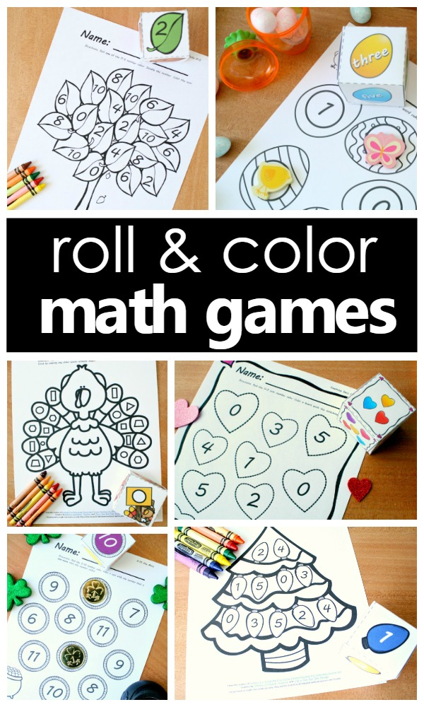Roll and Color Math Games - Fantastic Fun & Learning